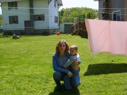 2007 me with my son on Mother's Day