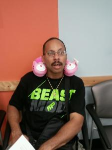 Beast Mode and pink piggy neck rest